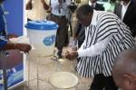 Minister joins the handwashing campaign